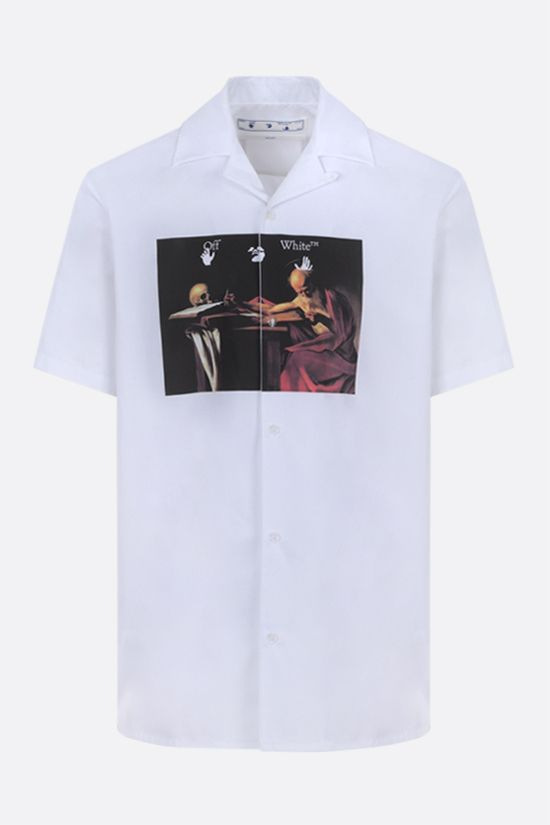 OFF WHITE: Caravaggio cotton bowling shirt Color White_1