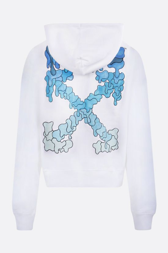 OFF WHITE: Marker cotton hoodie Color White_2