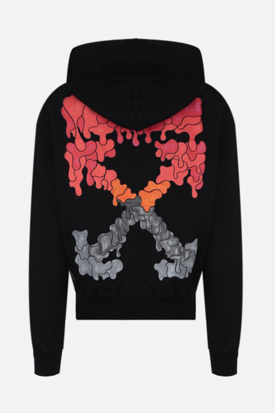 OFF WHITE: Marker cotton hoodie Color Black_2