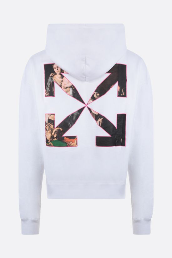 OFF WHITE: Sprayed Caravaggio oversize cotton hoodie Color White_2