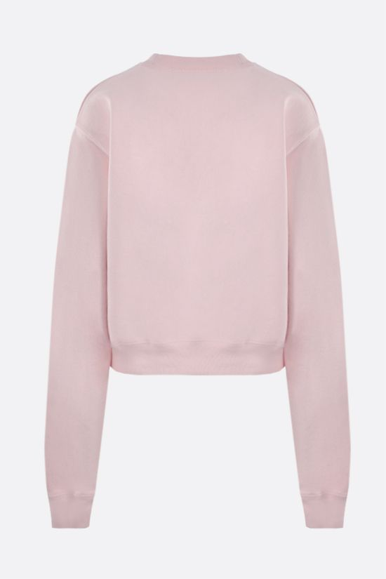 OFF WHITE: felpa cropped OFF Bold in cotone Colore Rosa_2