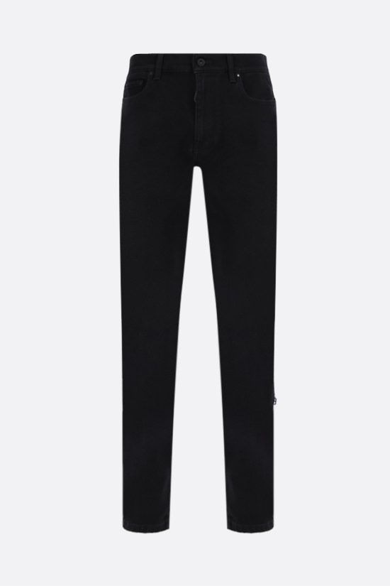 OFF WHITE: Diagonals print skinny jeans Color Black_1