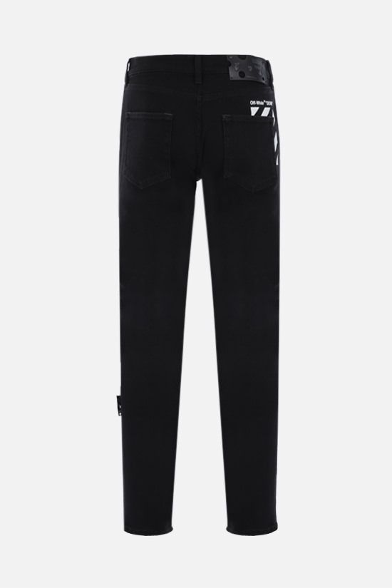 OFF WHITE: Diagonals print skinny jeans Color Black_2