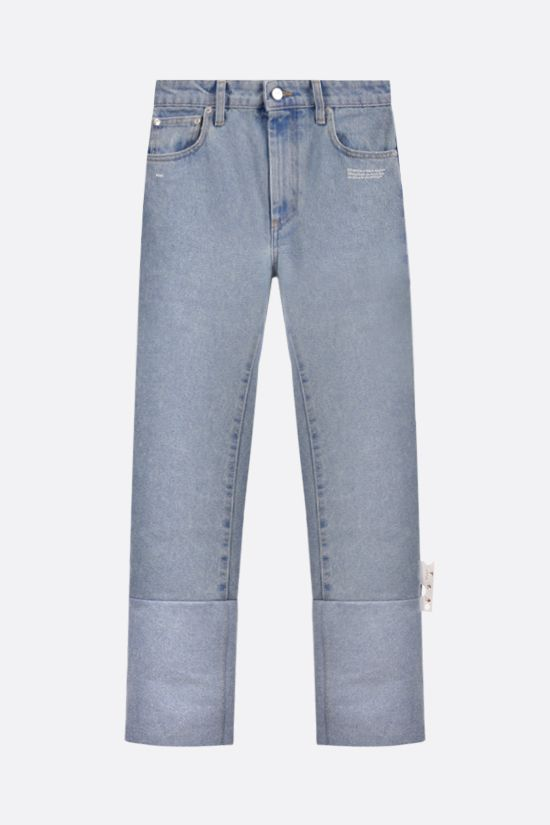 OFF WHITE: Two Tones straight-leg jeans Color Blue_1