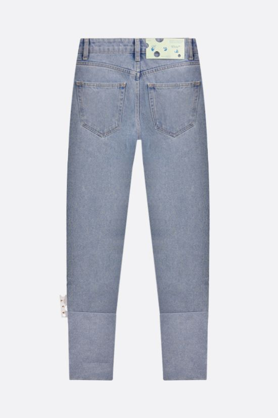 OFF WHITE: Two Tones straight-leg jeans Color Blue_2