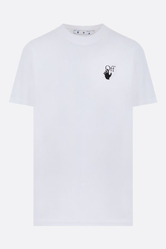 OFF WHITE: t-shirt Marker in cotone Colore Bianco_1