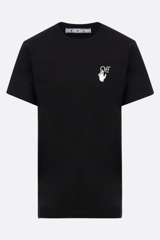 OFF WHITE: Spray Marker cotton t-shirt Color Black_1