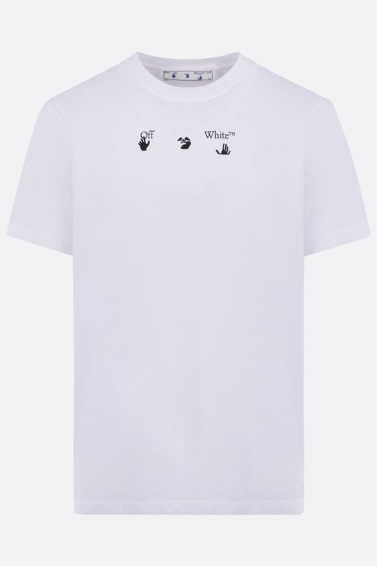 OFF WHITE: Marker cotton t-shirt Color White_1