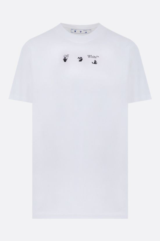 OFF WHITE: Marker oversize cotton t-shirt Color White_1