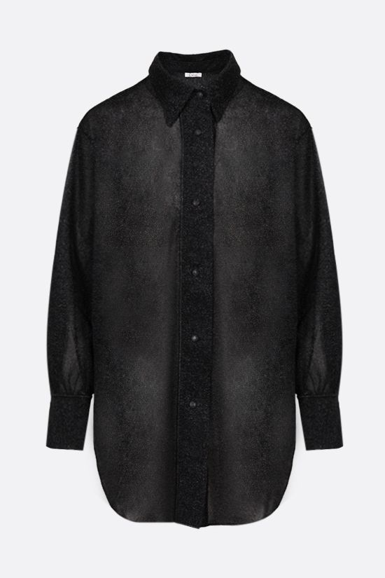 OSEREE: oversize lurex shirt Color Black_1