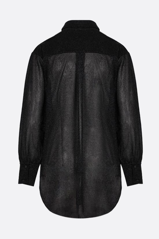 OSEREE: oversize lurex shirt Color Black_2