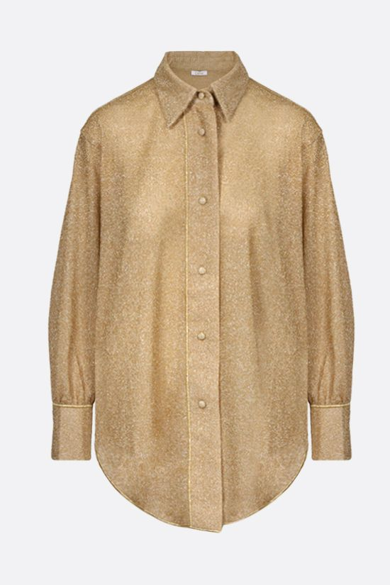 OSEREE: oversize lurex shirt Color Gold_1