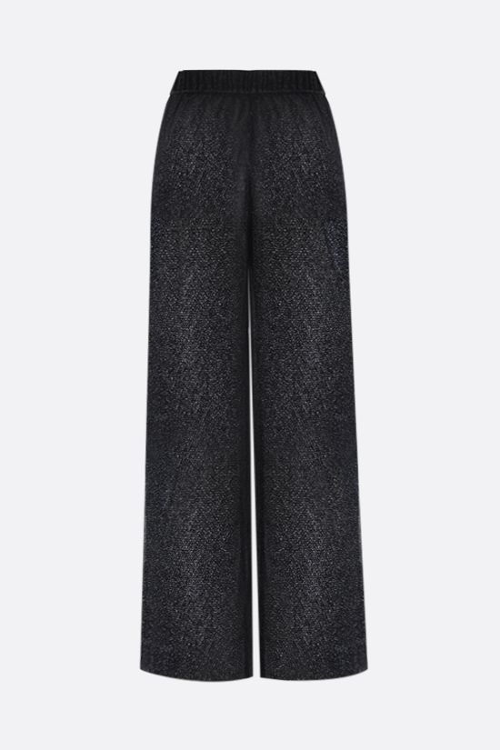 OSEREE: wide-leg lurex pants Color Black_2