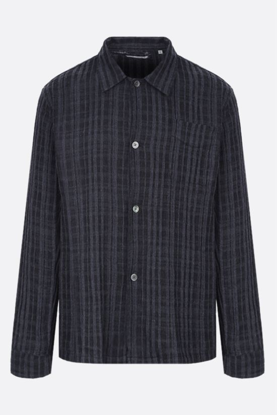 OUR LEGACY: check cotton blend shirt Color Black_1
