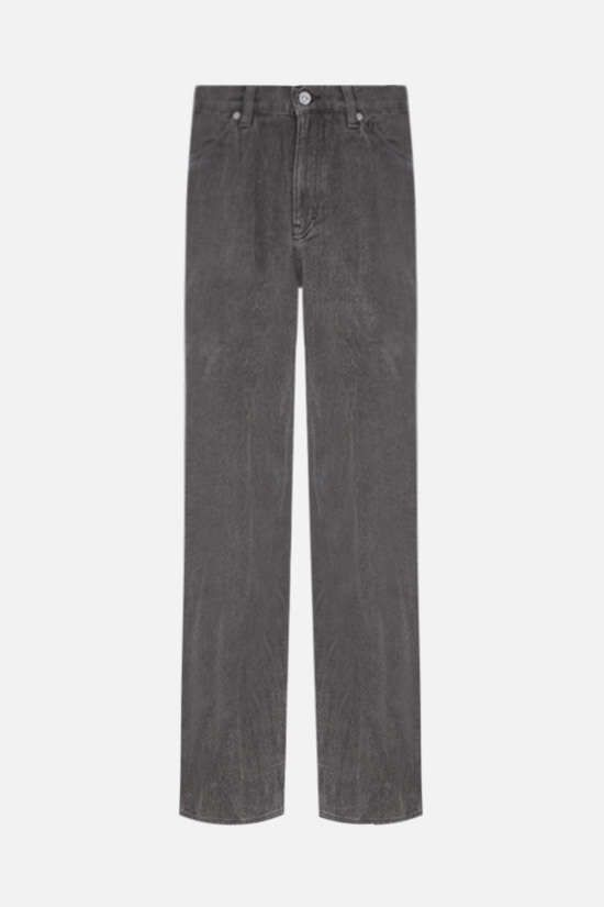 OUR LEGACY: linen straight-leg jeans Color Grey_1