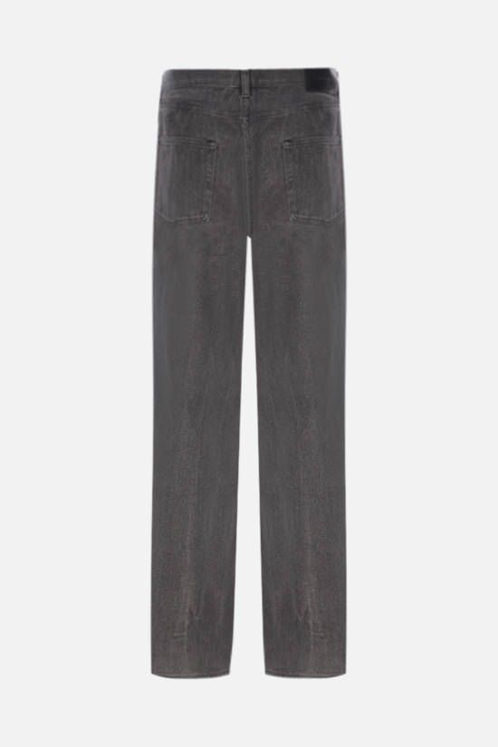 OUR LEGACY: linen straight-leg jeans Color Grey_2