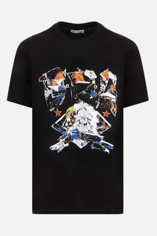 OUR LEGACY: Moto print cotton t-shirt Color Black_1
