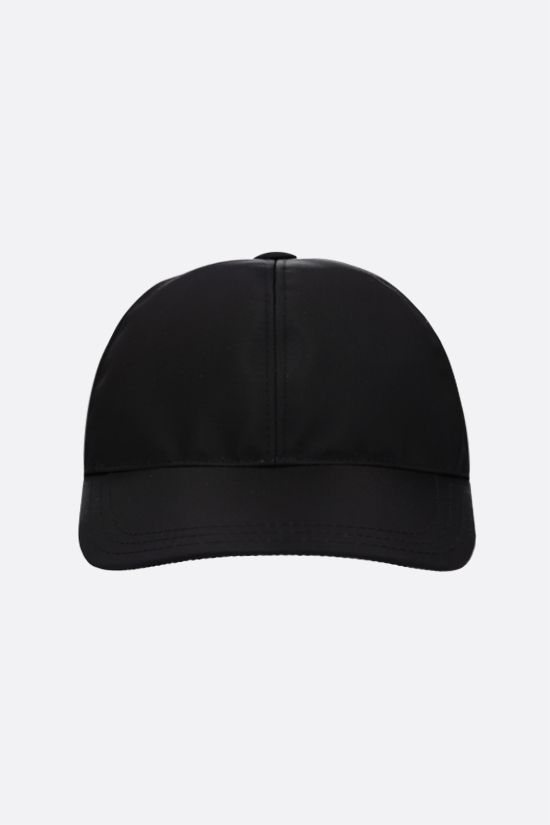 PRADA: logo-detailed nylon baseball cap Color Black_1