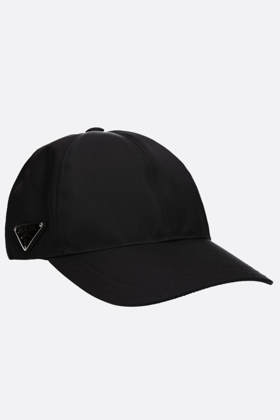 PRADA: logo-detailed nylon baseball cap Color Black_2