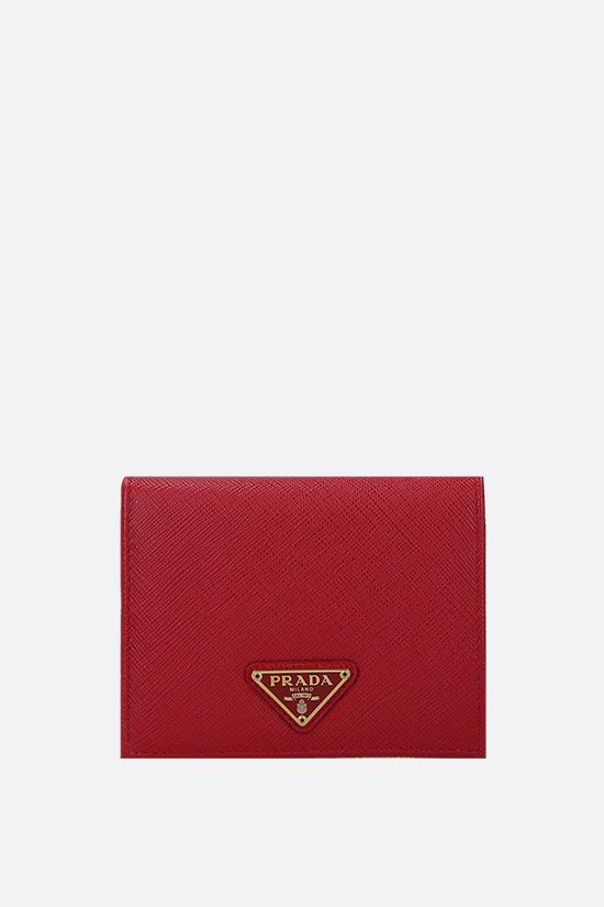 PRADA: Saffiano leather small wallet Color Red_1