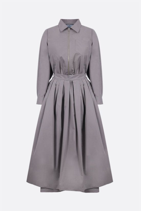 PRADA: cotton shirt dress Color Grey_1