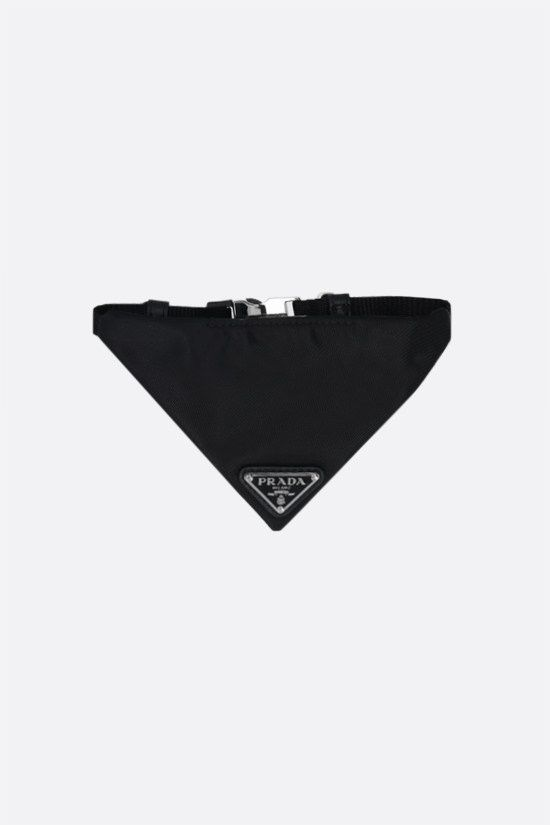PRADA: collare a bandana per animali in Re-Nylon con logo Colore Nero_1