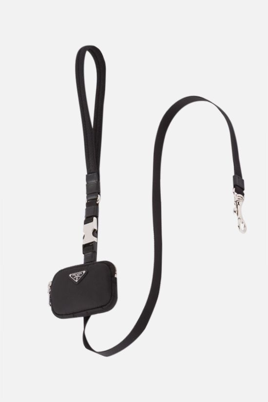 PRADA: pouch-detailed Re-Nylon pet leash Color Black_1