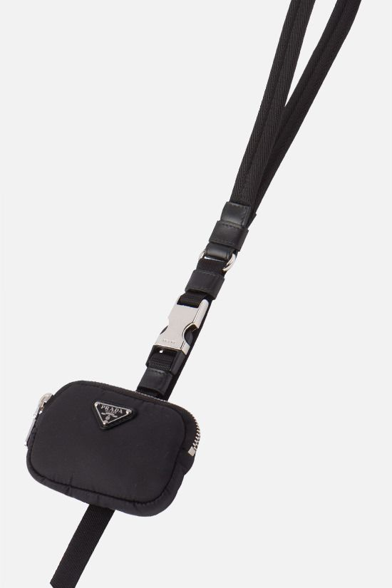 PRADA: pouch-detailed Re-Nylon pet leash Color Black_2