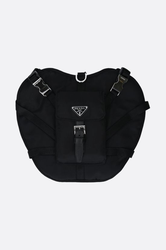 PRADA: pocket-detailed adjustable Re-Nylon pet harness Color Black_1