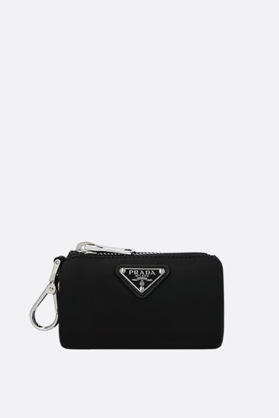PRADA: logo-detailed Re-Nylon pet waste bag pouch Color Black_1