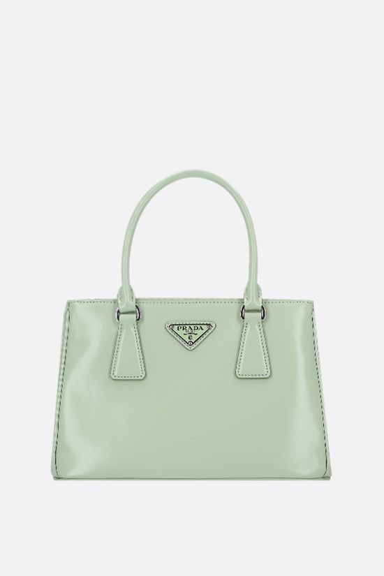 PRADA: Prada Galleria mini shiny leather handbag Color Blue_1