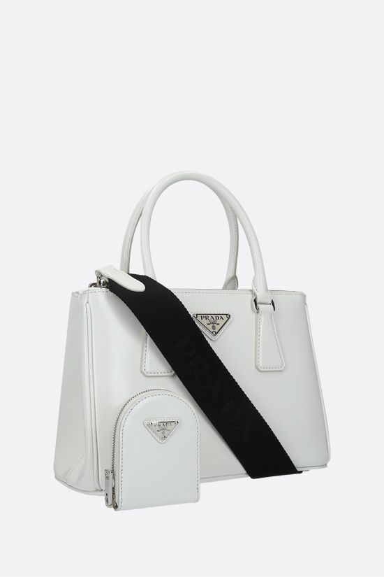 PRADA: Prada Galleria mini shiny leather handbag Color White_2