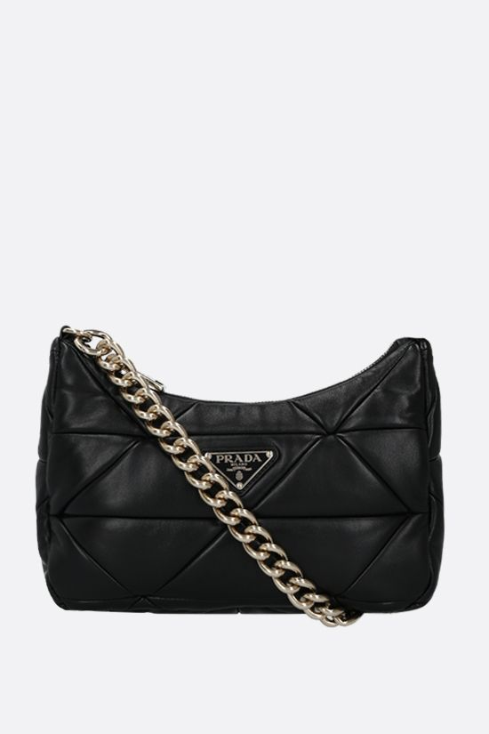 PRADA: Prada System patchwork nappa shoulder bag Color Black_1