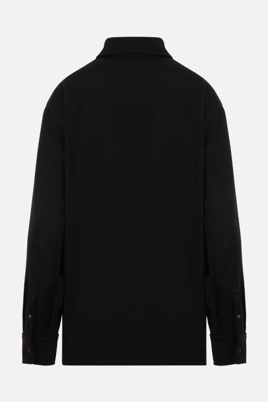PRADA: wool gabardine shirt Color Black_2