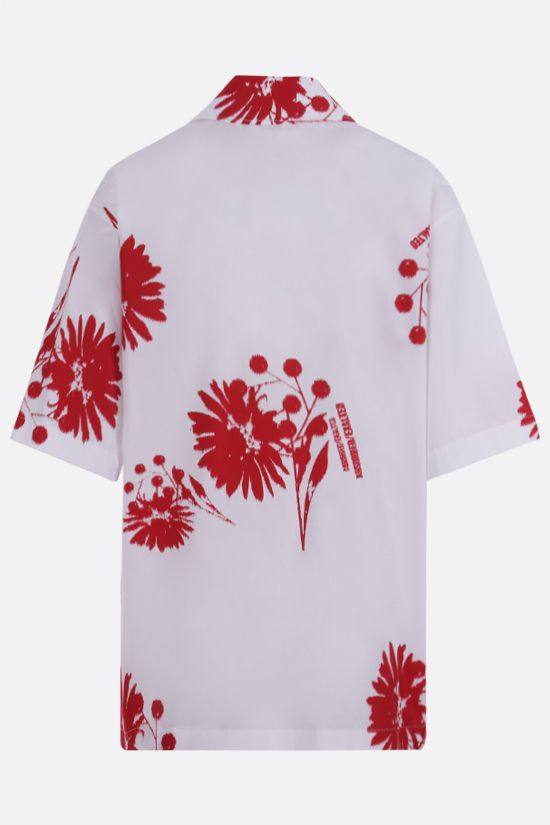 PRADA: printed poplin bowling shirt Color White_2