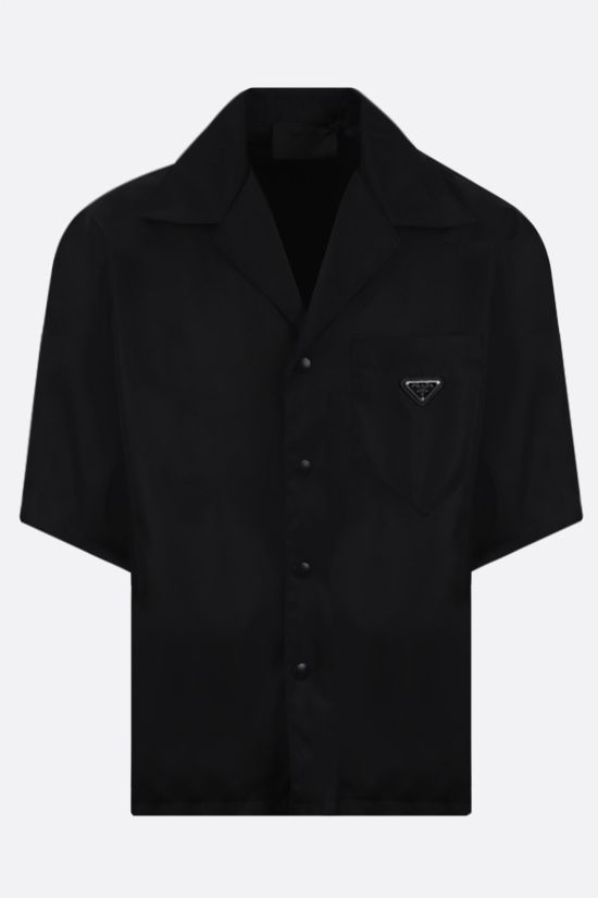 PRADA: camicia bowling in Re-Nylon Colore Nero_1