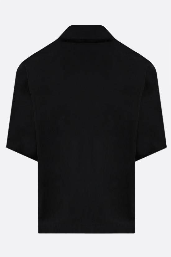 PRADA: camicia bowling in Re-Nylon Colore Nero_2