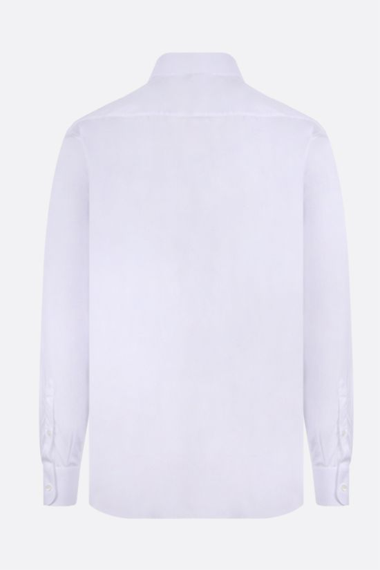 PRADA: regular-fit cotton shirt Color White_2