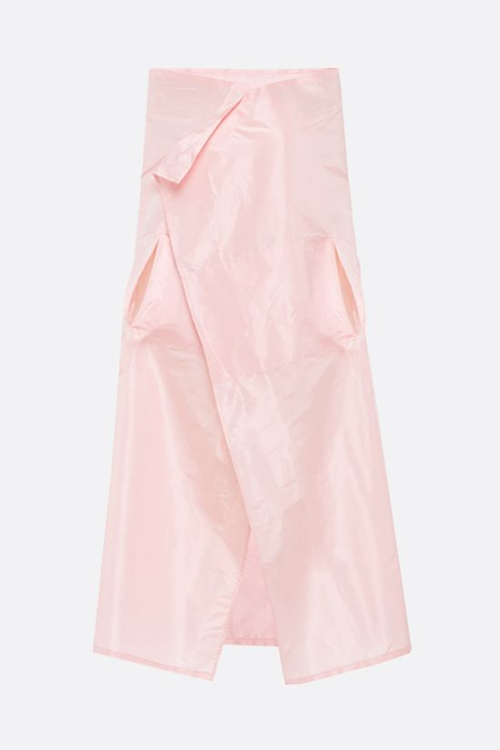 PRADA: logo-detailed silk taffetà cape Color Pink_1