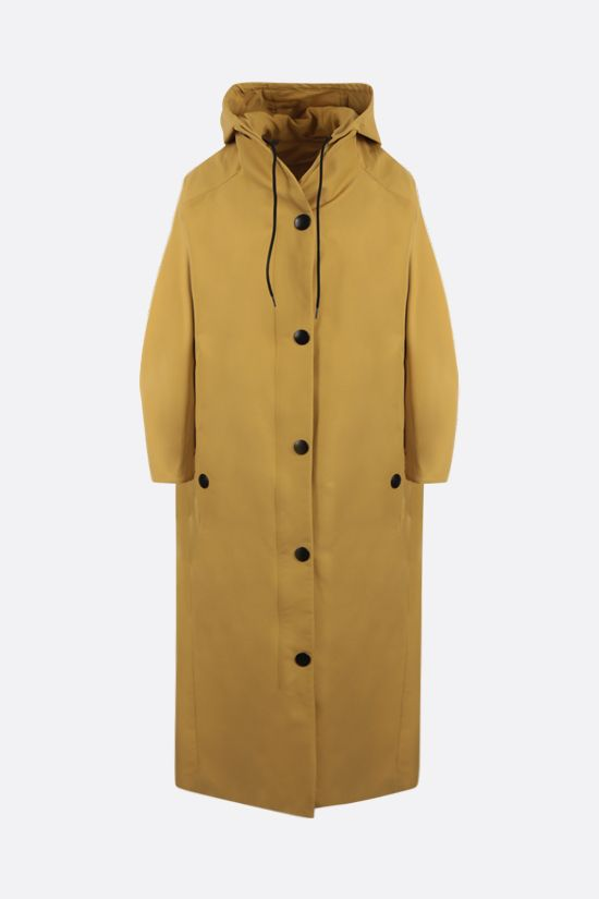 PRADA: oversize technical canvas coat Color Orange_1