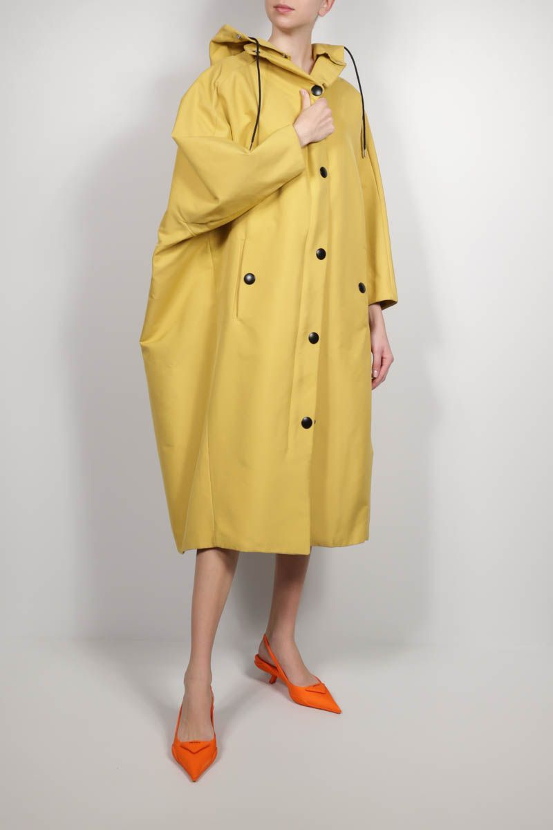 PRADA: oversize technical canvas coat Color Orange_2