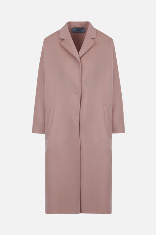 PRADA: single-breasted wool angora blend coat Color Neutral_1