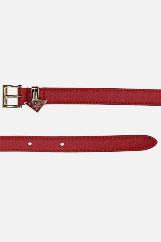 PRADA: Saffiano leather thin belt Color Red_2