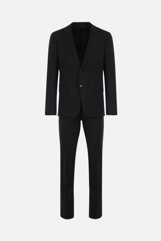 PRADA: stretch wool two-piece suit Color Black_1