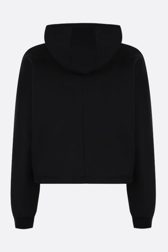 PRADA: technical cotton cropped hoodie Color Black_2