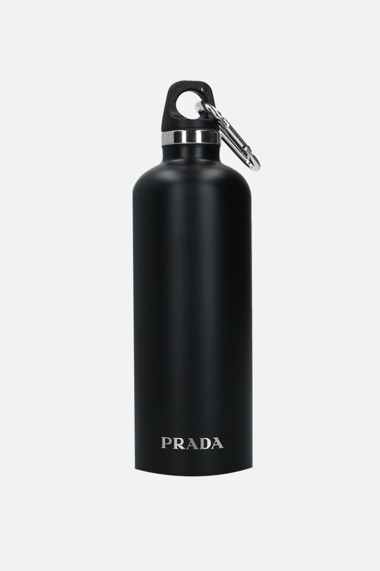 PRADA: 50 ml stainless steel water bottle Color Black_1