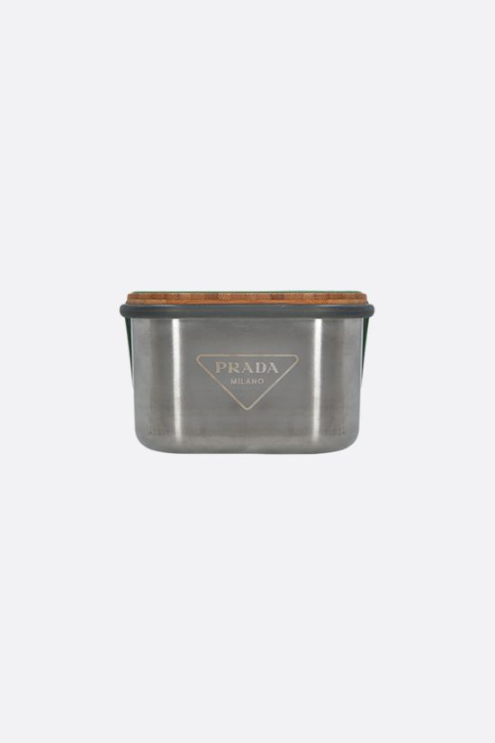 PRADA: stainless steel, bamboo and silicone sandwich box Color Silver_1
