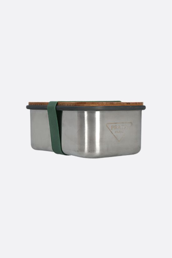 PRADA: stainless steel, bamboo and silicone sandwich box Color Silver_2