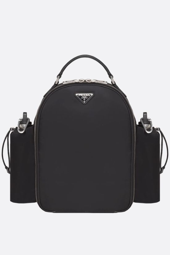 PRADA: multi-accessorized picnic backpack in Re-Nylon Color Black_1