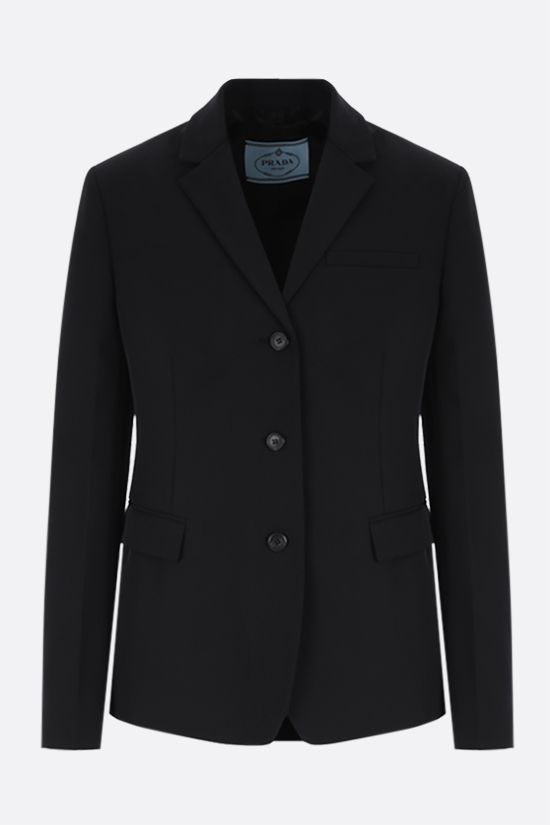 PRADA: single-breasted technical fabric jacket Color Black_1